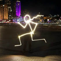 Light painting The Light Runner