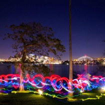 Light Painting through city landscapes